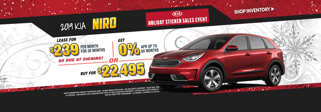 Lease a new Niro for as low as $239 per month!