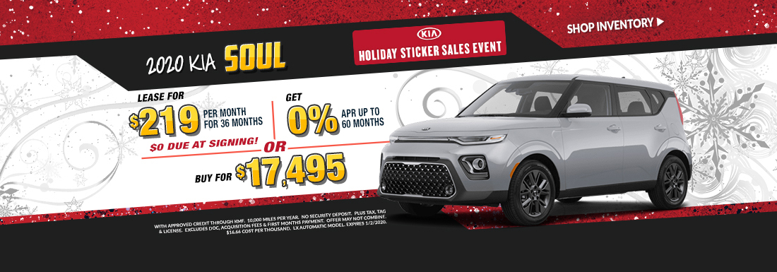 Lease a new Soul for as low as $219 per month!