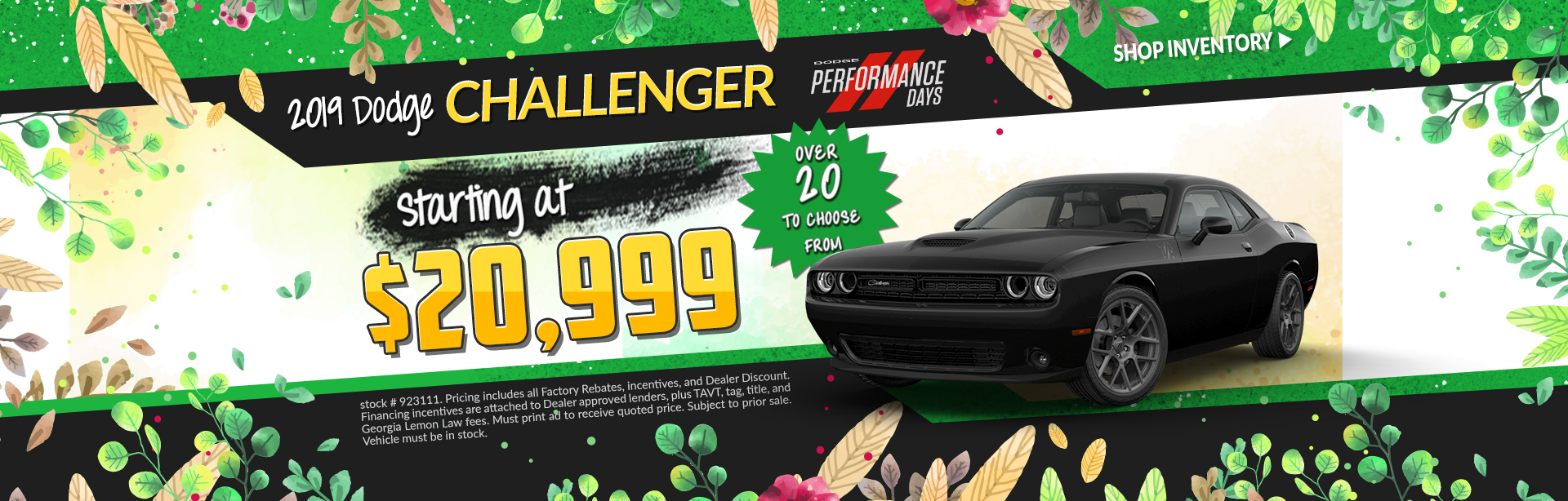 2019 Dodge Challenger - Lease for $399 per month