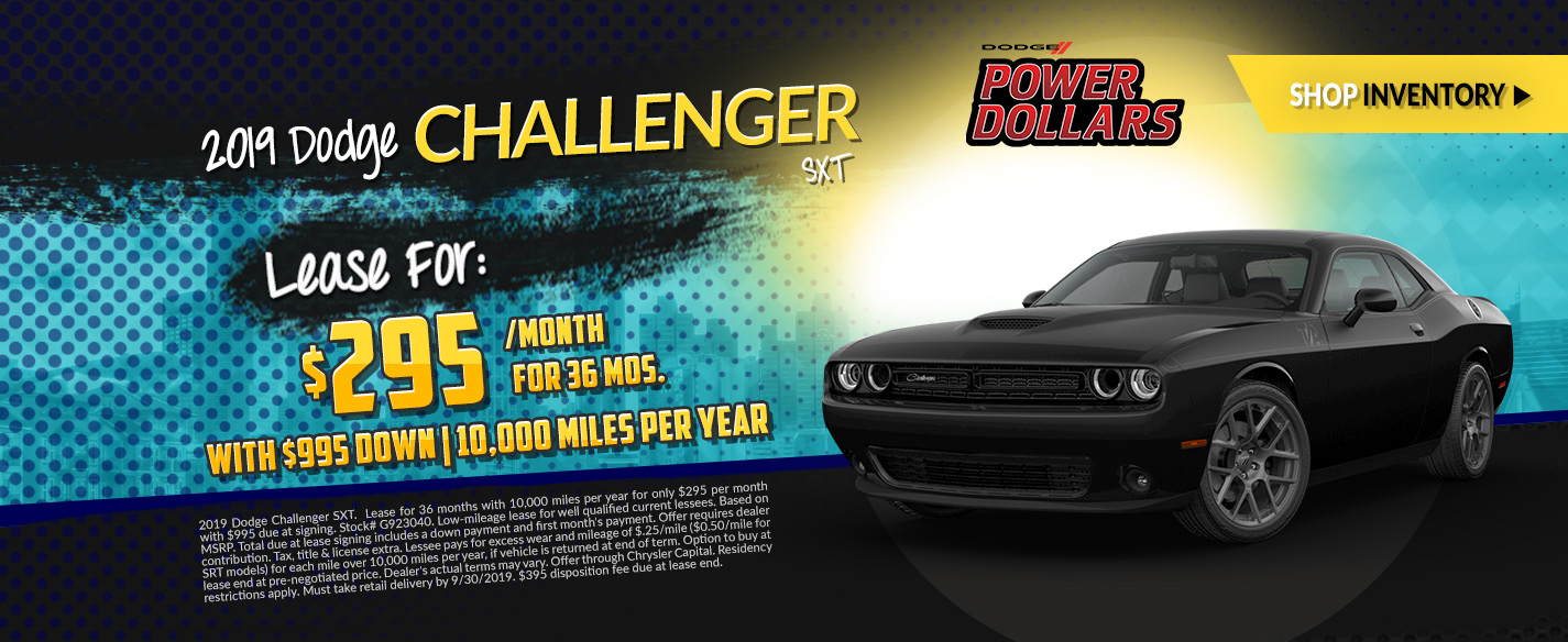 2019 Dodge Challenger - Lease for $295 per month