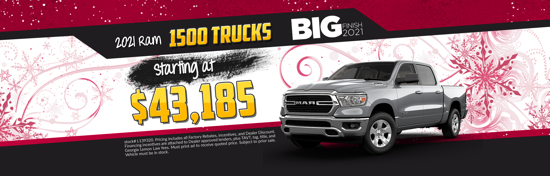 2020 Ram 1500 - Lease for $419 per month