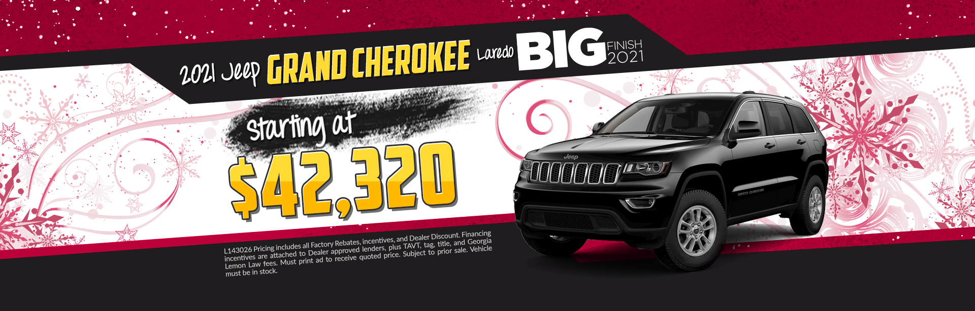 2020 Jeep Grand Cherokee - Lease for $379 per month