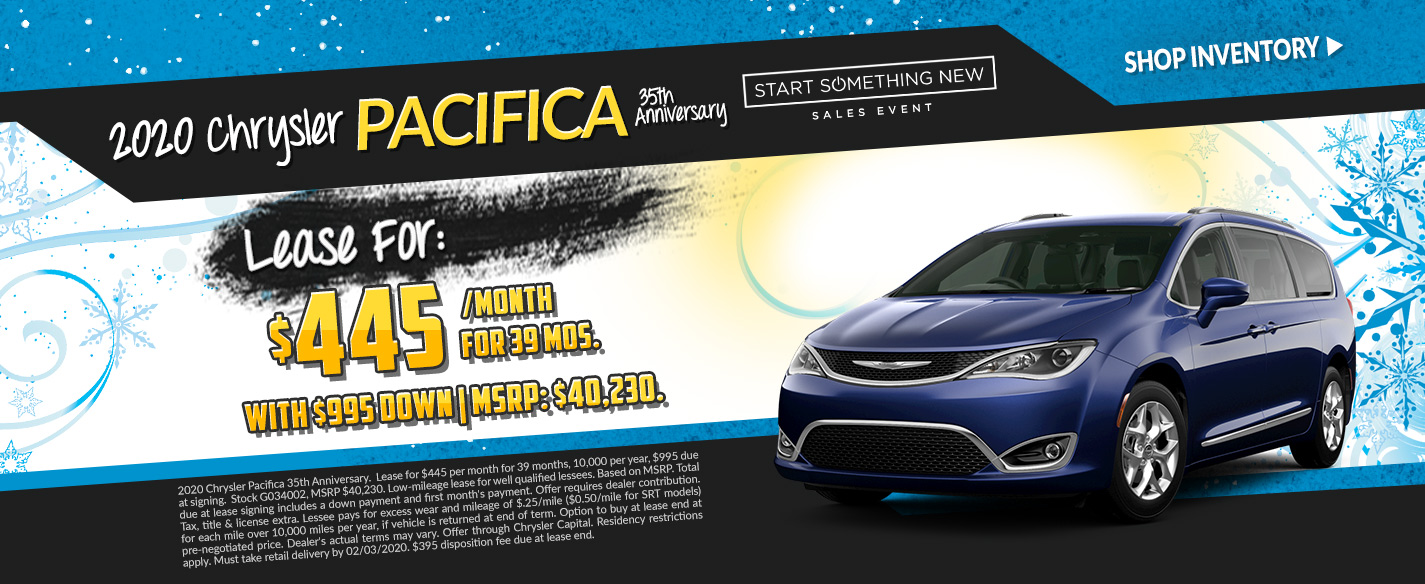 2020 Chrysler Pacifica - Lease for $445 per month