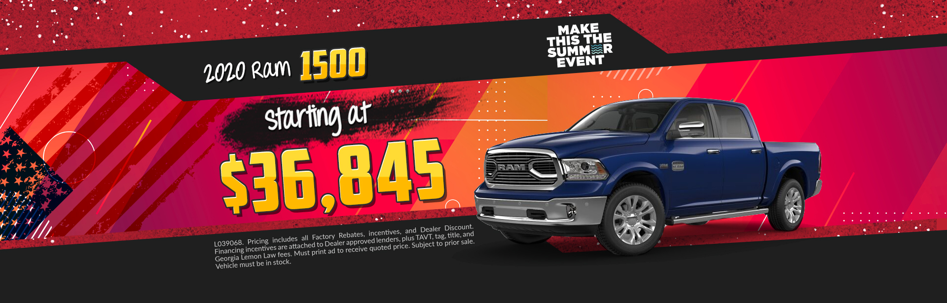 2019 Ram 1500 - Lease for $369 per month