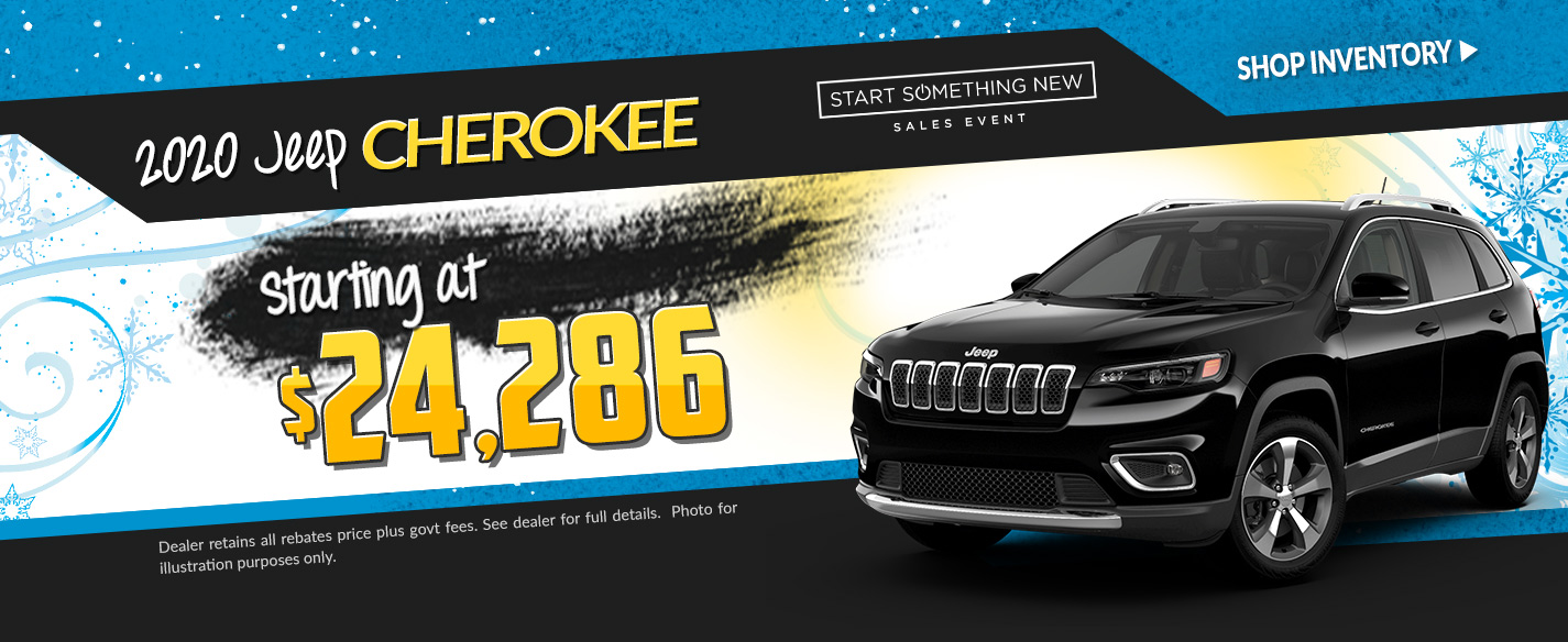 2019 Jeep Cherokee - Lease for $248 per month