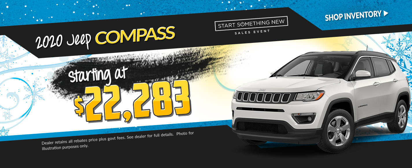 2019 Jeep Compass - Lease for $206 per month