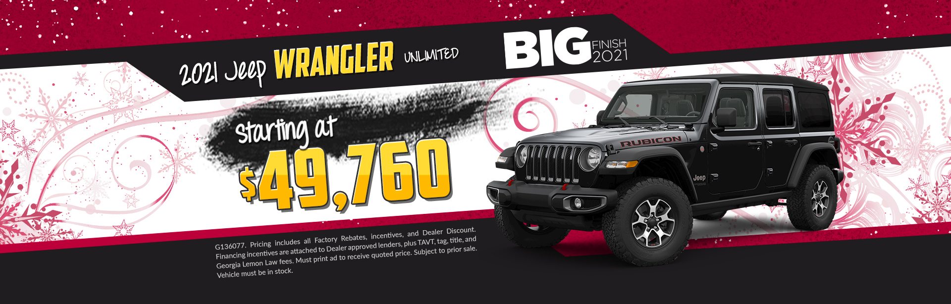 2020 Jeep Wrangler - $5,000 off list price